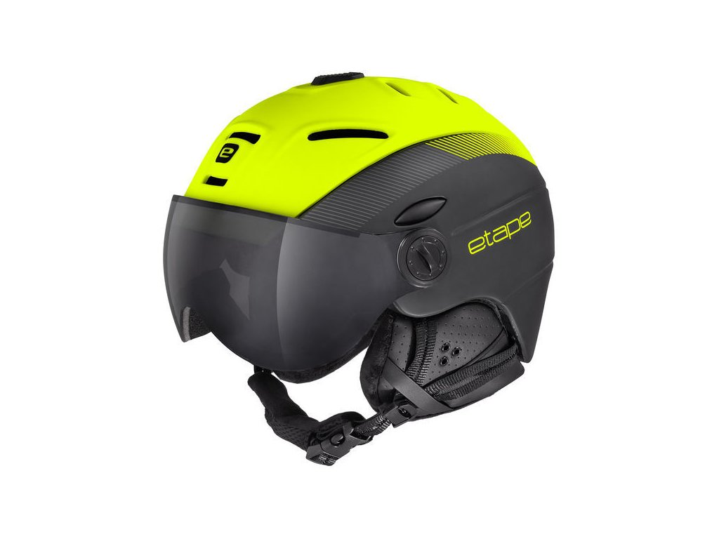 Lyžařská helma Etape COMP PRO, černá/žlutá fluo mat