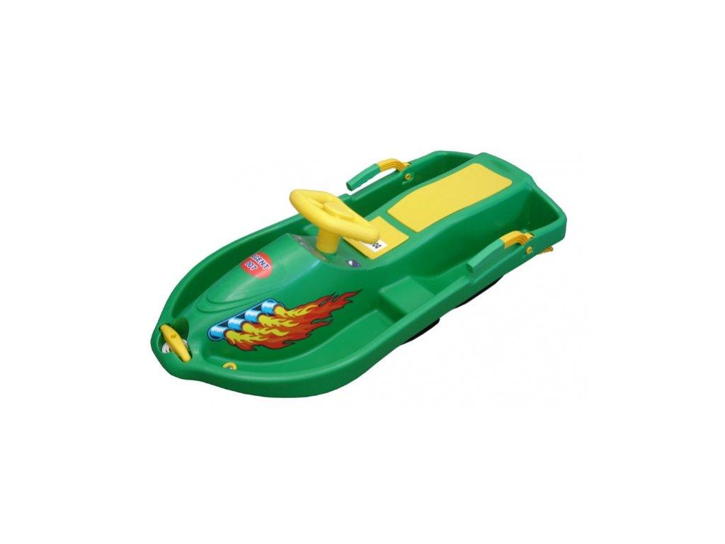 kluzák s volantem Snowboat zelený