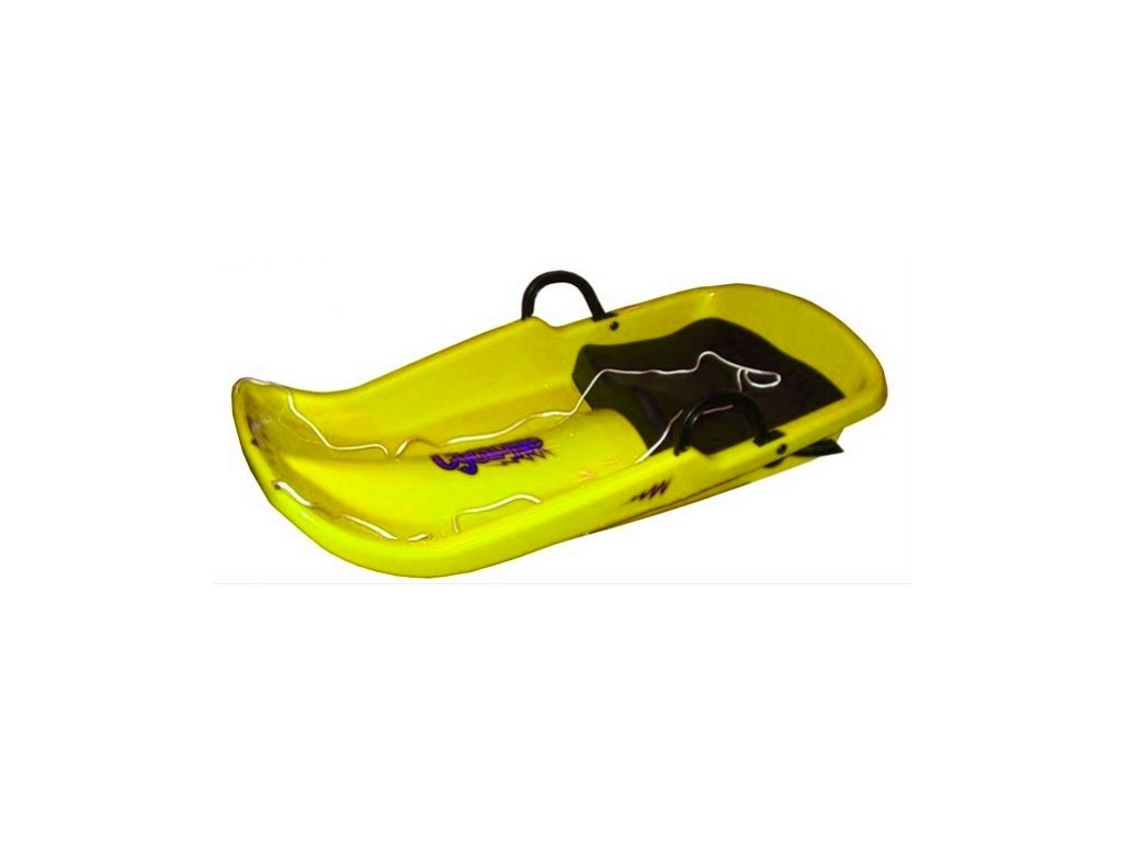 kluzák se sedátkem Cyclone žlutý