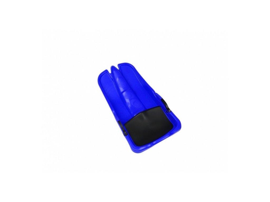 kluzák s brzdami a sedátkem modrý