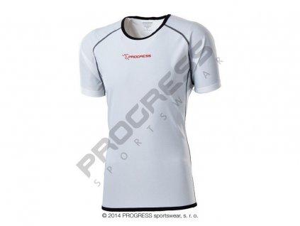 Progress FASTER pánské funkční běžecké triko bílá (Varianta XXL)