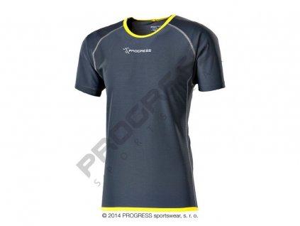 Progress FASTER pánské funkční běžecké triko šedá (Varianta XXL)