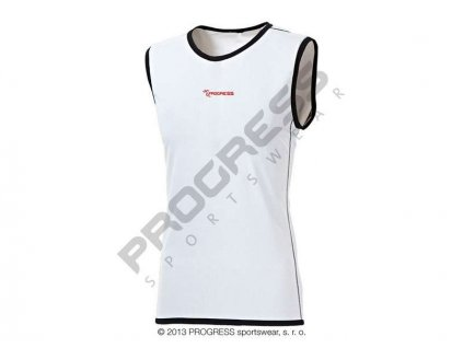 PROGRESS GILET pánské běžecké triko bez rukávů bíká (Varianta XXL)
