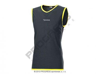 PROGRESS GILET pánské běžecké triko bez rukávů šedá (Varianta XXL)