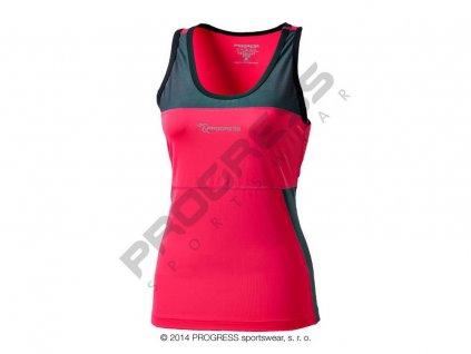 Progress KALIMERA dámské funkční běžecké tílko růžová (Varianta XL)