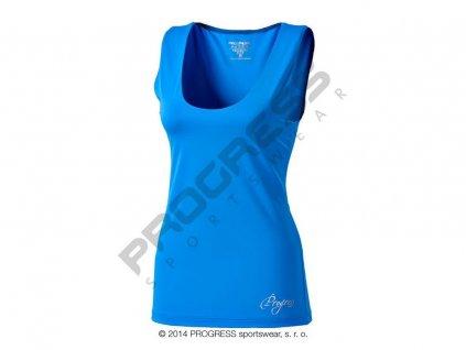 Progress OLI dámské sportovní fitness tílko modrá (Varianta XL)