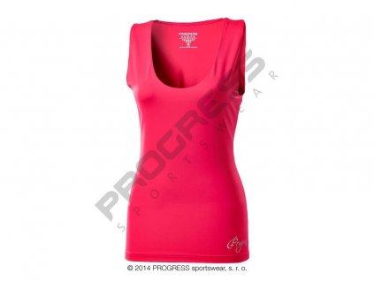 Progress OLI dámské sportovní fitness tílko růžová (Varianta XL)