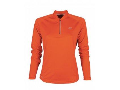 BASE dámské běžecké triko dlouhý rukáv NEWLINE zip shirt 13370-016 (Velikost XL)