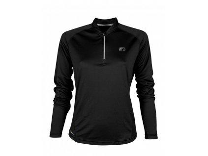 BASE dámské běžecké triko dlouhý rukáv NEWLINE zip shirt 13370-060 (Velikost XL)