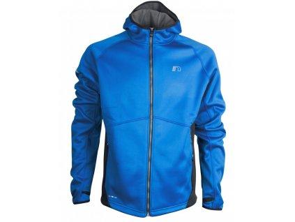 BASE pánská běžecká mikina s kapucí NEWLINE warm up 14096-016 (Velikost XXL)