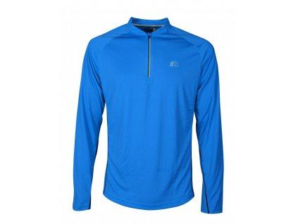 BASE pánské běžecké triko dlouhý rukáv NEWLINE zip shirt 14370-016 (Velikost XXL)
