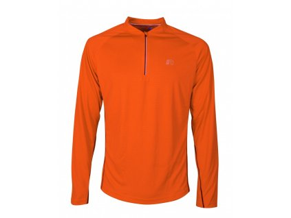 BASE pánské běžecké triko dlouhý rukáv NEWLINE zip shirt 14370-017 (Velikost XXL)