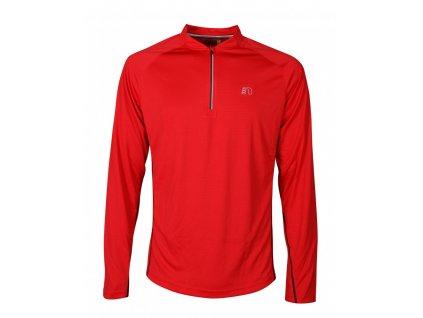 BASE pánské běžecké triko dlouhý rukáv NEWLINE zip shirt 14370-040 (Velikost XXL)