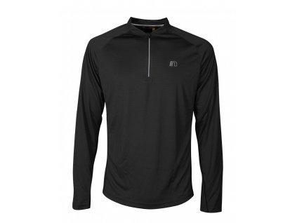 BASE pánské běžecké triko dlouhý rukáv NEWLINE zip shirt 14370-060 (Velikost XXL)