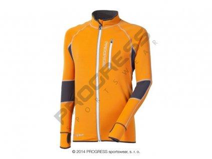 CLAVOS pánská mikina oranžová (Varianta XXL)
