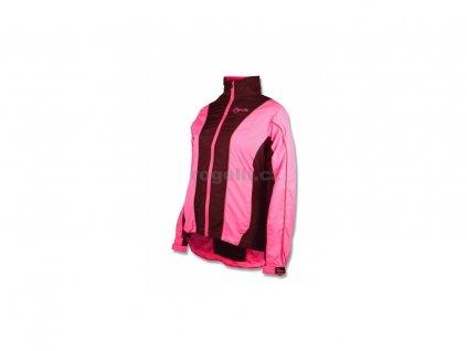 Dámská běžecká větrovka Rogelli SVENJA, černo-reflexní růžová (Varianta XXL)