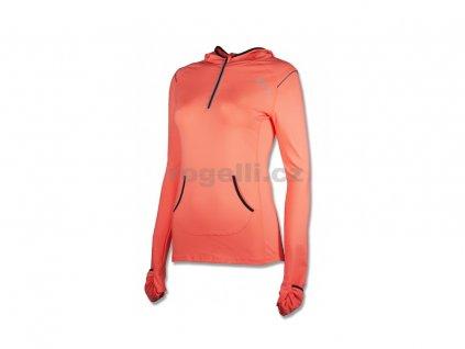 Dámská fitness mikina s kapucí Rogelli MARELLA, oranžová (Varianta XXL)
