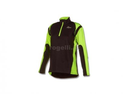Dámská sportovní mikina Rogelli ELKA, černo-reflexní žlutá (Varianta XXL)