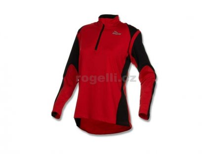 Dámská sportovní mikina Rogelli ELKA, červeno-černá (Varianta XXL)