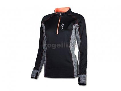 Dámská sportovní mikina Rogelli MAURA, černo-šedá (Varianta XXL)