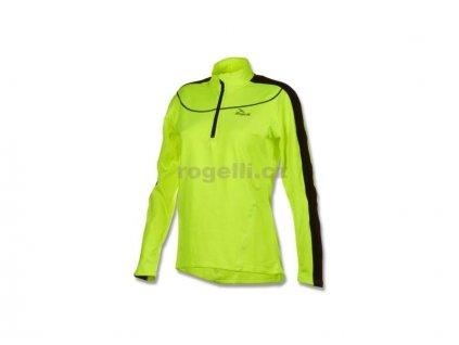Dámská sportovní mikina Rogelli MELS, reflexní žlutá (Varianta XXL)