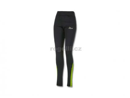Dámské běžecké kalhoty Rogelli EMNA, černo-reflexní žluté (Varianta XXL)