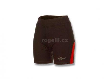 Dámské běžecké kraťasy Rogelli EDIA, černo-červené (Varianta XXL)