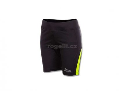 Dámské běžecké kraťasy Rogelli EDIA, černo-reflexní žluté (Varianta XXL)