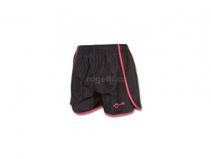 Dámské běžecké šortky Rogelli KYRA, černo-reflexní růžové (Varianta XXL)