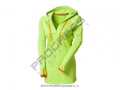 NIBA dámská sportovní mikina s kapucí zelená (Varianta XL)