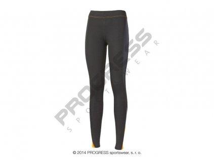 Progress NADINE dámské sportovní elasťáky černá/oranžová (Varianta XL)