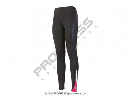 Progress NADINE dámské sportovní elasťáky černá/růžová (Varianta XL)