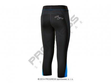 Progress OLYMPIA 3Q dámské sportovní 3/4 elasťáky černá/modrá (Varianta XL)