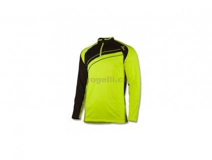 Sportovní mikina Rogelli BENNET, reflexní žlutá-černá (Varianta XXL)