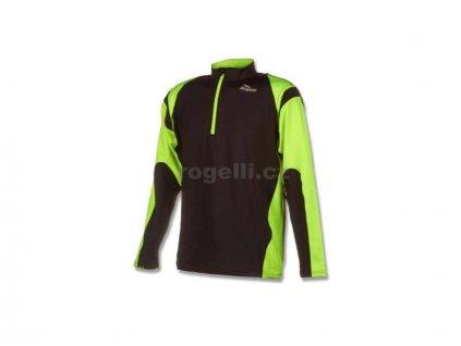 Sportovní mikina Rogelli DILLON, černo-reflexní žlutá (Varianta XXL)