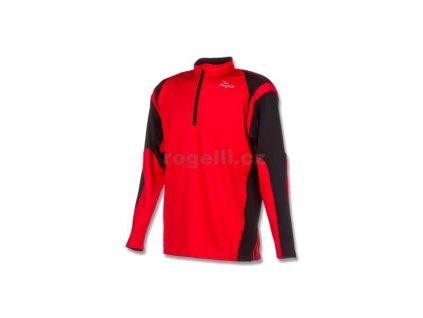 Sportovní mikina Rogelli DILLON, červeno-černá (Varianta XXL)