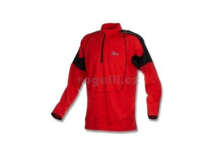 Sportovní mikina Rogelli POSEIDON, červeno-černá (Varianta XXL)