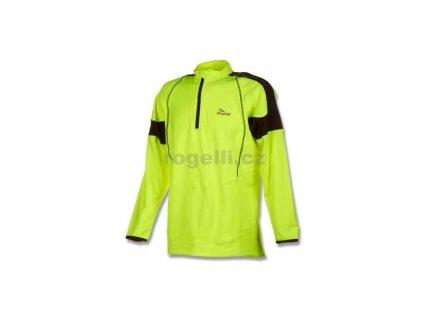 Sportovní mikina Rogelli POSEIDON, reflexní žlutá-černá akce (Varianta XXL)