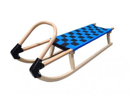 Dřevěné sáně 110cm A2041 - modré