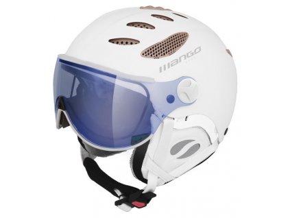 Dámská lyžařská helma Mango Cusna VIP, bílá mat