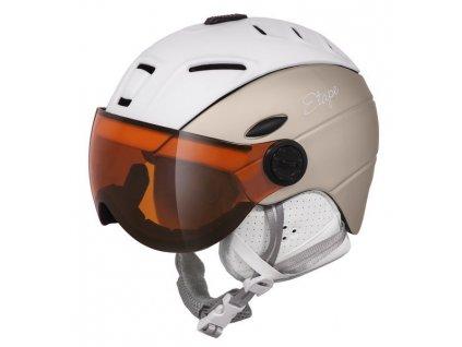 Dámská lyžařská helma Etape Grace Pro, bílá/prosecco mat