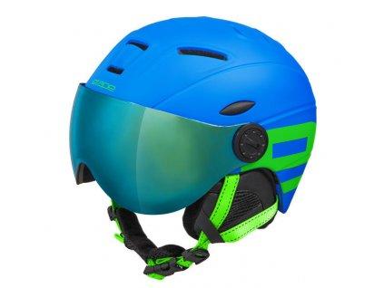 Dětská lyžařská helma Etape Rider Pro, modrá/zelená mat