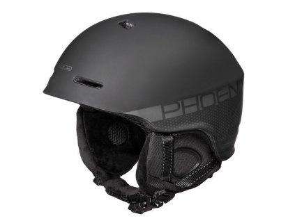 Lyžařská helma Phoenix, černá mat ST
