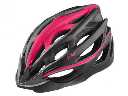Dámská cyklistická přilba Etape Vesper, černá/růžová mat