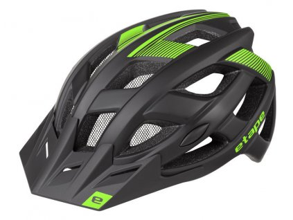 Pánská helma na kolo Etape Escape, černá/zelená mat