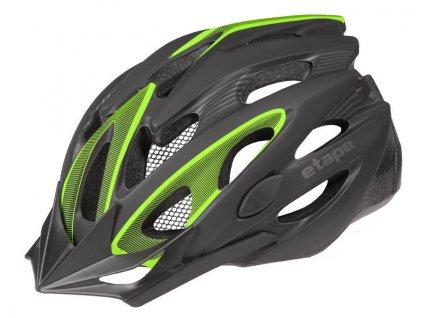 Helma na kolo Etape Biker, černá/zelená mat