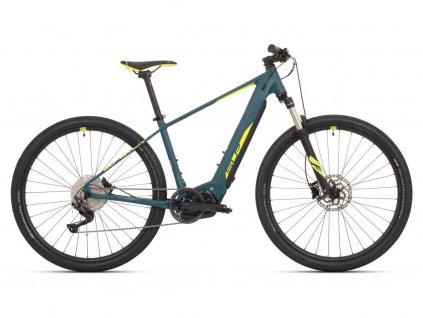 Horské elektrokolo Superior eXC 7039 Matte Turquoise/Neon Yellow 2021