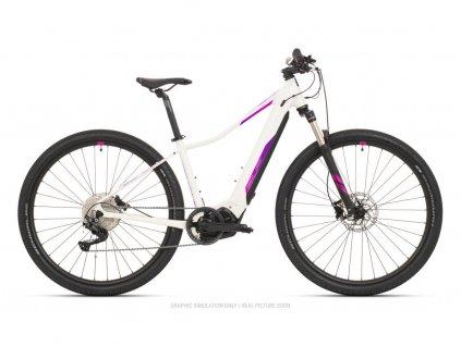 Horské elektrokolo Superior eXC 7039 W Gloss White/Pink/Violet 2021