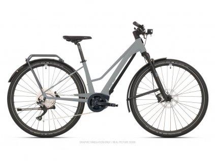 Krosové elektrokolo Superior eXR 6050 BL Touring Gloss Gray/Chrome Silver 2021