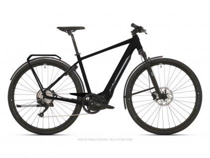 Krosové elektrokolo Superior eXR 6050 Touring Matte Black/Chrome Silver 2021